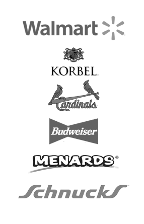 Trusted by Major U.S. Brands - Walmart, Schnucks, The St. Louis Cardinals, Korbel, Menards, and Budweiser
